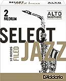 CAÑAS SAXOFON ALTO - D´Addario Rico (Select Jazz) Filed (Dureza 2 MEDIA) (Caja de 10 Unidades)