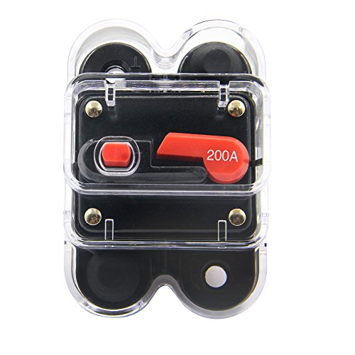 60A Fuse holder Trolling Motor Auto Car Marine Boat Bike Stereo Audio Inline Fuse Inverter with Manual Reset 12V-24V DC ZOOKOTO Circuit Breaker 60A