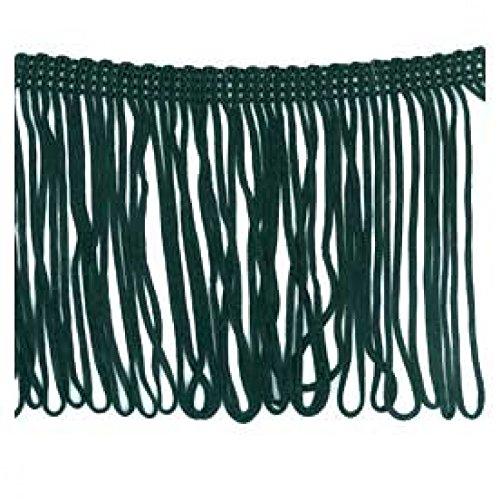 10cm Loop Dress Fringe Trimming Black - per metre Minerva Crafts