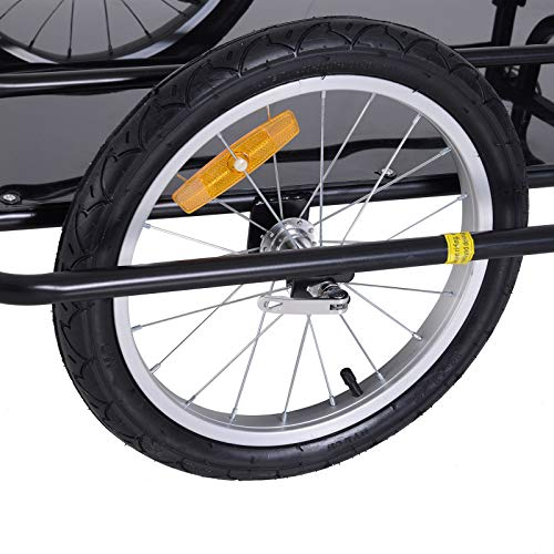 Bike Cargo Storage Cart and Luggage Trailer with Hitch Folding Bicycle Black by Caraya (Image #6)