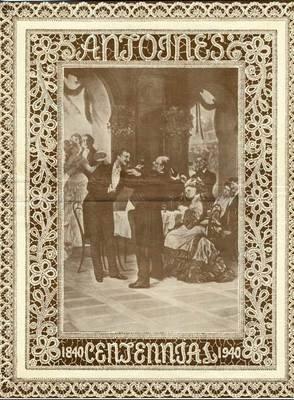 Antoines Centennial Menu Souvenir Booklet & Linen Postcard 1950's New Orleans