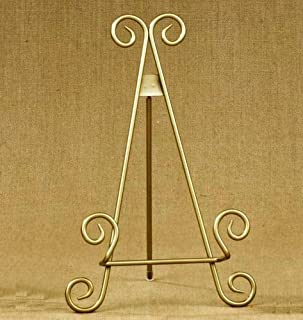 11 h Gold Finish Metal Display Easel / Platter Stand ~ Great for Display Photo : metal plate holder stand - pezcame.com