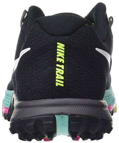NIKE AIR ZOOM TERRA KIGER 4 Damen Schuhe Mehrfarbig(Black/White-Volt-Hyper turquoise),41 EU/7 UK