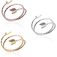 ZUOPIPI Adjustable Multilayer Arrow Ring Love Arrow Open Ring for Girls Sisters Graduation Wedding Gifts