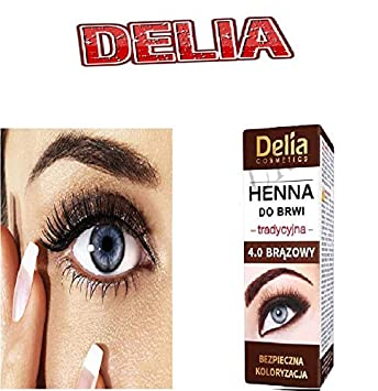 Delia Henna For Eyebrows 4 0 Brown 2 Ml Amazon Co Uk Beauty