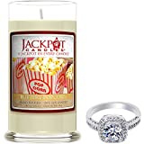 Buttery Popcorn Candle with Ring Inside (Surprise Jewelry Valued at $15 to $5,000) Ring Size 7