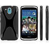 HTC Desire 526 G+ Case, BoxWave® [BodySuit] Premium Textured TPU Rubber Gel Skin Case for HTC Desire 526 G+ - Jet Black