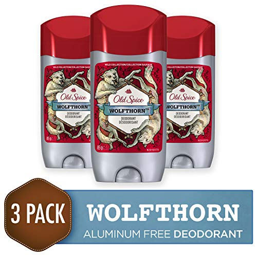 Old Spice Deodorant for Men, Wolfthorn Scent, Wild Collection, 3 oz, 3 Count
