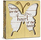 Pavilion Gift Company Simple Spirits 41090 Nanas are The Heart of The Family Butterfly Plaque, 4-1/2''