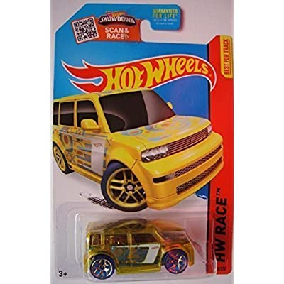 Hot Wheels, 2015 HW Race, Scion XB [Translucent Yellow] Die-Cast Vehicle #144/250: Toys & Games