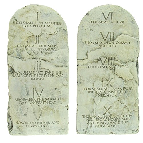 Ten Commandments Plaque (The Ten Commandments Tablets Cast Stone Tablet Set)