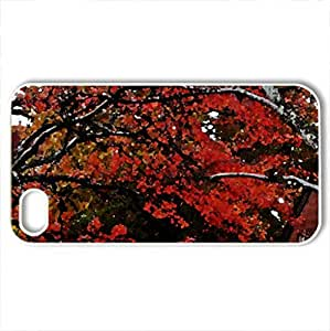Autumn Colors - Case Cover for iPhone 4 and 4s (Forces of Nature Series, Watercolor style, White)