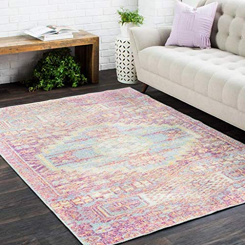 Fairview Bohemian Distressed Pink 5 3 X 7 3 Rectangle Updated Traditional 100 Polyester Garnet Bright Pink Bright Yellow Sea Foam Saffron White Lavender Area Rug Buy Online In Bahamas At Bahamas Desertcart Com Productid 111391796