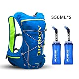 Cheap AONIJIE Running Hydration Pack Backpack with 2L Water Bladder for Men 10L Deluxe Running Race Hydration Vest Outdoors Mochilas for Marathon Running Cycling Hiking(blue-350ml)