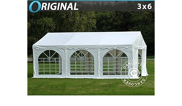Dancover Pérgola para fiesta Original 3 x 6 m PVC, blanco: Amazon ...
