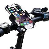 Fahrrad Handyhalterung,Acelive 360-Grad-Drehung Handyhalter Fahrrad Verstellbar Motorradhalter Halterung mit Metall Sockel für GPS iPhone 7 7 Plus 6s 6s Plus 6 6 Plus SE 5s 5 und smartphone