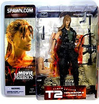 Movie Maniacs Series 5 Terminator 2 Judgment Day Sarah Connor Long Hair Variant Action Figure by McFarlane Toys