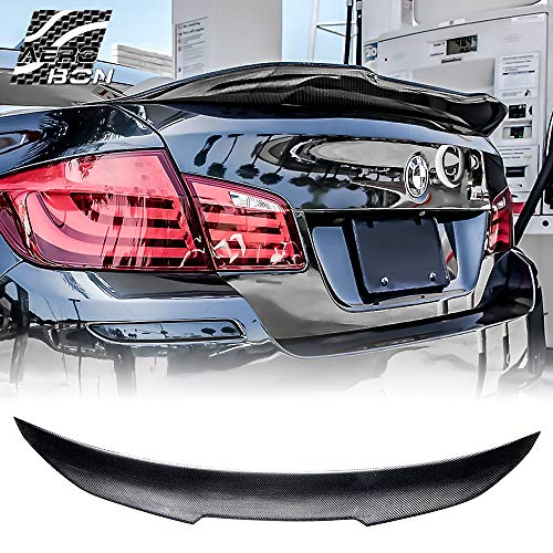 (AeroBon 2009-2016 F10 5-Series Carbon Fiber Rear Trunk Lip Spoiler, High-Kick)