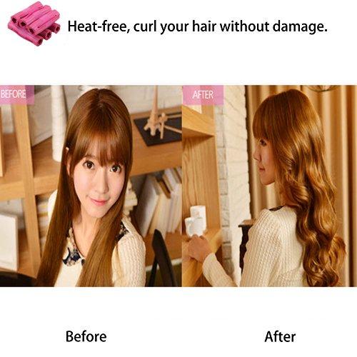 Hair-CurlerFoam-Sponge-Hair-CurlersPillow-Hair-RollersHair-Styling-DIY-ToolSleep-Hair-Rollers-for-Long-Short-Thick-Thin-HairNo-Heat-Foam-Hair-Curlers-for-Women-Girls6Pcs-Set