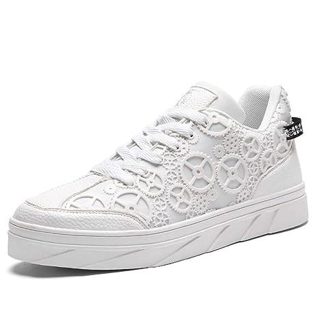 YAN Zapatos de Hombre 2018 Zapatos de Plataforma caída Zapatillas de Deporte con Cordones en la