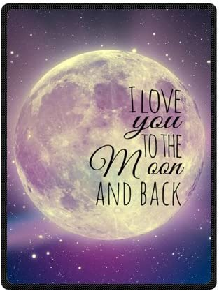 Dragonfly I Love You To The Moon And Back Sofa Fleece Blanket