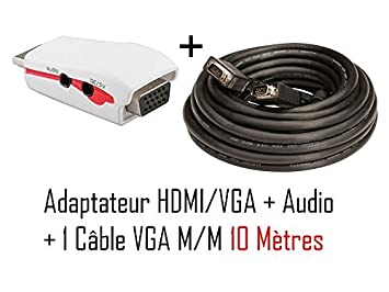 CABLING-Adaptador de HDMI a VGA y audio para PS3 y Xbox one a