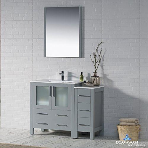 BLOSSOM 001-42-15-SC Sydney 42'' Vanity Set with Side Cabinet Metal Gray
