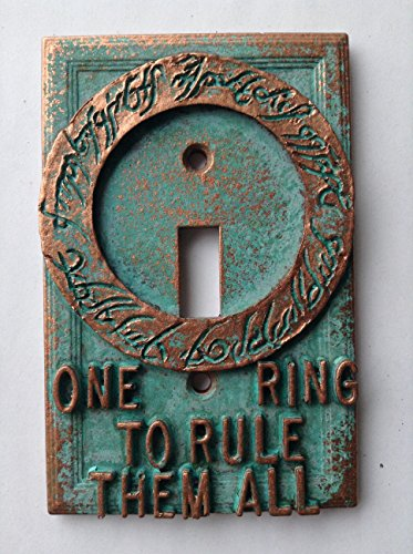 Lord Over Stone - Lord of The Rings -Light Switch Cover - (Copper/Patina)