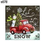#3: Narutosak Christmas Santa Snowman Bell Gift DIY Cross Stitch Full Resin Diamond Painting - s678