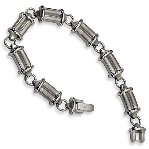 Bracelet en titane brossé et poli JewelryWeb - 22,8 cm