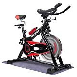 URSTAR Ultra-silence Exercise Bike with LCD Monitor and Shock Absorber for Health and Fitness¡­