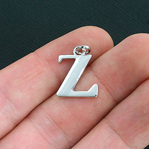 4 Zeta Greek Letter Charms Antique Silver Tone Jewelry Making Supply Pendant Bracelet DIY Crafting by Wholesale Charms