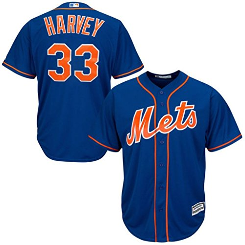 VF New York Mets MLB Mens Majestic Matt Harvey Cool Base Replica Jersey Royal Blue Big & Tall Sizes - Royal Therma Base Blue