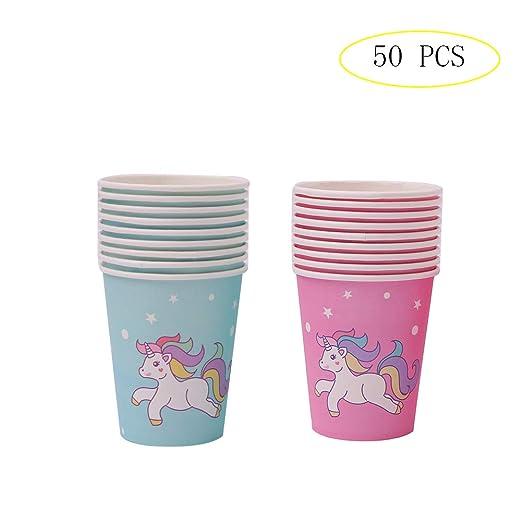 Vasos de papel desechables con diseño de unicornio para ...