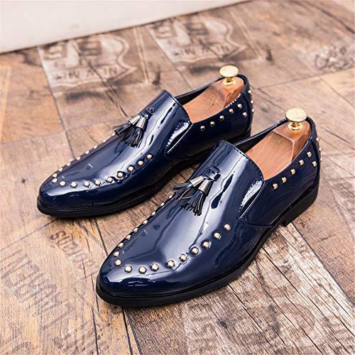 Xujw Scarpe 46 a mano fodera con scarpe vernice EU sintetica Marina Rosso oxford Basse da 2018 Stringate Militare pattina Color con Scarpe shoes nappe fatte scarpe e uomo Dimensione e in pOxHXqpr