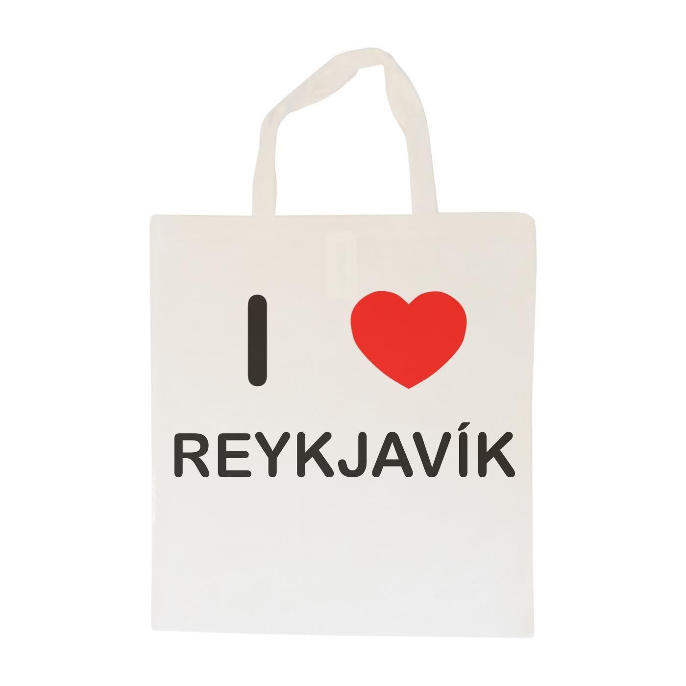 I Love Reykjavik Cotton Maxi Shopping Bag
