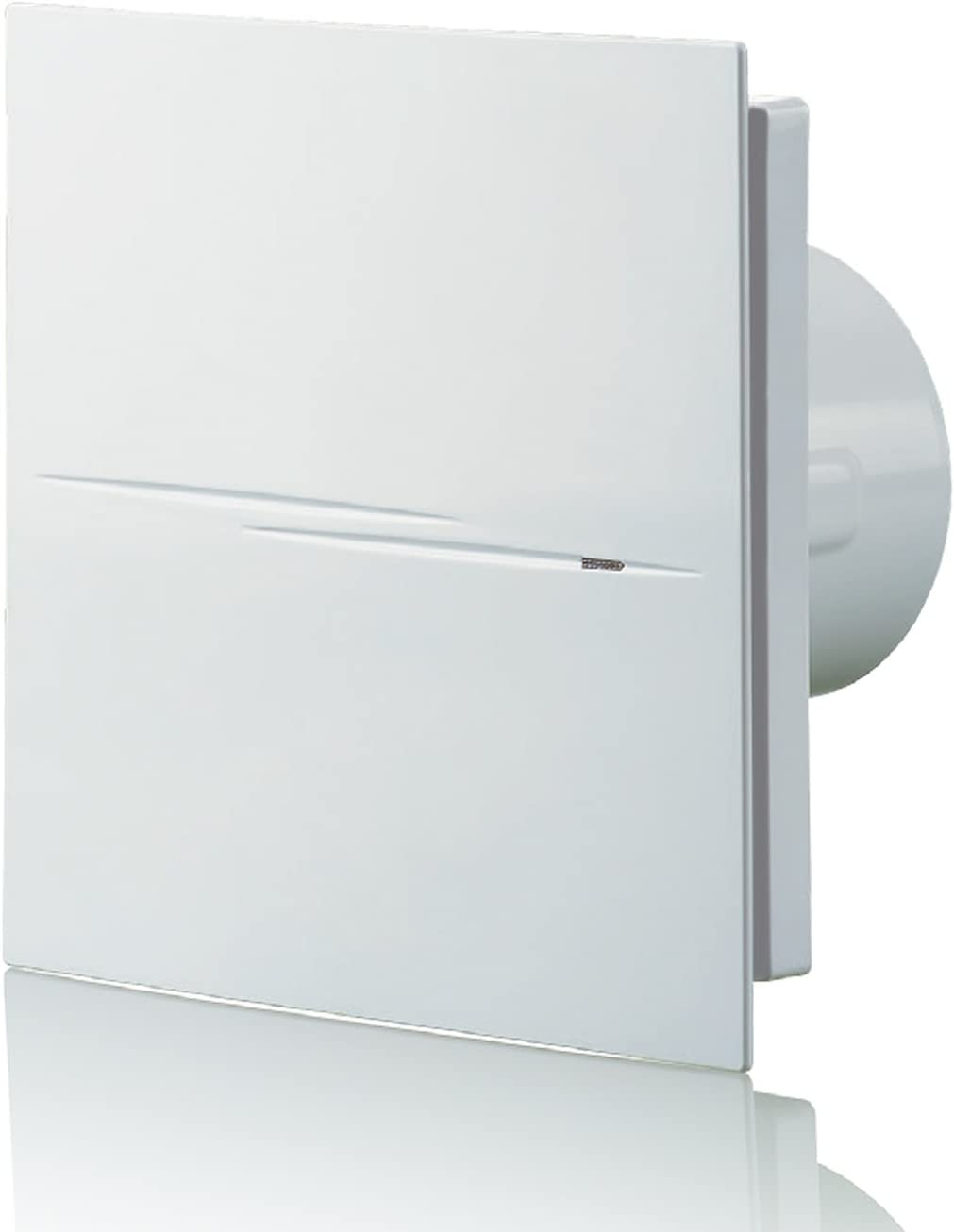 Blauberg UK 100Calm Design Low Noise Energy Efficient - Ventilador extractor de 100 mm estándar, Blanco brillante