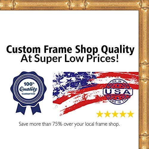 Poster Palooza 9x12 Bamboo Gold Complete Wood Picture Frame with UV Acrylic, Foam Board Backing, Hardware