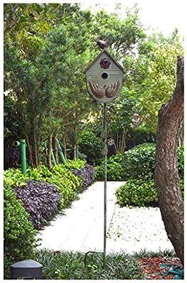 Yang baby Jardín De Los Pájaros Plug Nido Jardín Flores Decoración En Estilo Retro Hierro Rust Finalizar, El Patio Al Aire Libre del Ornamento-Arte Decoraciones, 55.1 ...