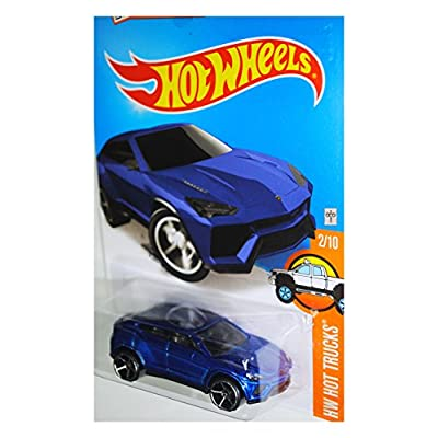 Hot Wheels, 2016 HW Hot Trucks, Lamborghini Urus [Blue] 142/250: Toys & Games