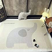 IHEARTYOU Baby Crawling Mat Cute Elephant Play Carpet Children Bedroom Decor Living Room Rugs