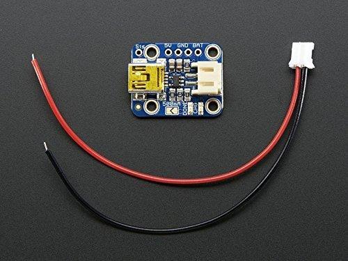 Adafruit Mini Lipo w/Mini-B USB Jack - USB LiIon/LiPoly charger - v1