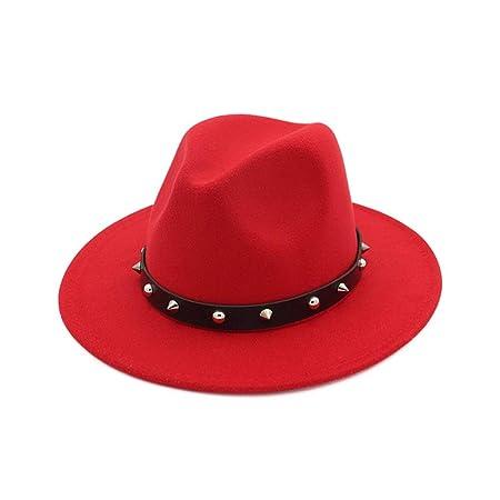 MAXJCN Sombrero, Moda Mujer Hombre Lana Sombrero Fedora Elegante ...