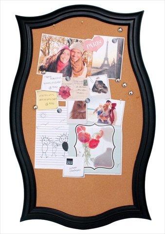 kiera-grace-script-framed-cork-wall-board-with-6-metal-push-pins-22-by-345-inch-black