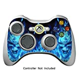 Skin Stickers for Xbox 360 Controller – Vinyl High Gloss Sticker for X360 Slim Wired Wireless Game Controllers – Protectors Stickers Controller Decal – Blue Daemon [ Controller Not Included ]