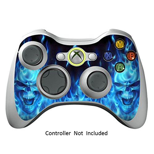 Skin Stickers for Xbox 360 Controller - Vinyl High Gloss Sticker for X360 Slim Wired Wireless Game Controllers - Protectors Stickers Controller Decal - Blue Daemon [ Controller Not Included ()