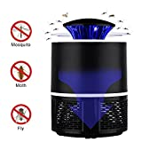 Electric Mosquito Trap Lamp - USB Powered UV LED Attractant Insect Killer with Built in Fan Mosquito Catcher - User Friendly & Eco-Friendly - Ideal for Indoor Use (Black)
