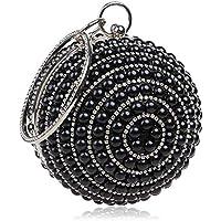 Hanks' winkel Handtas Ball Shape Dames Mode Banquet Party Pearl Handtas (Color : Black)