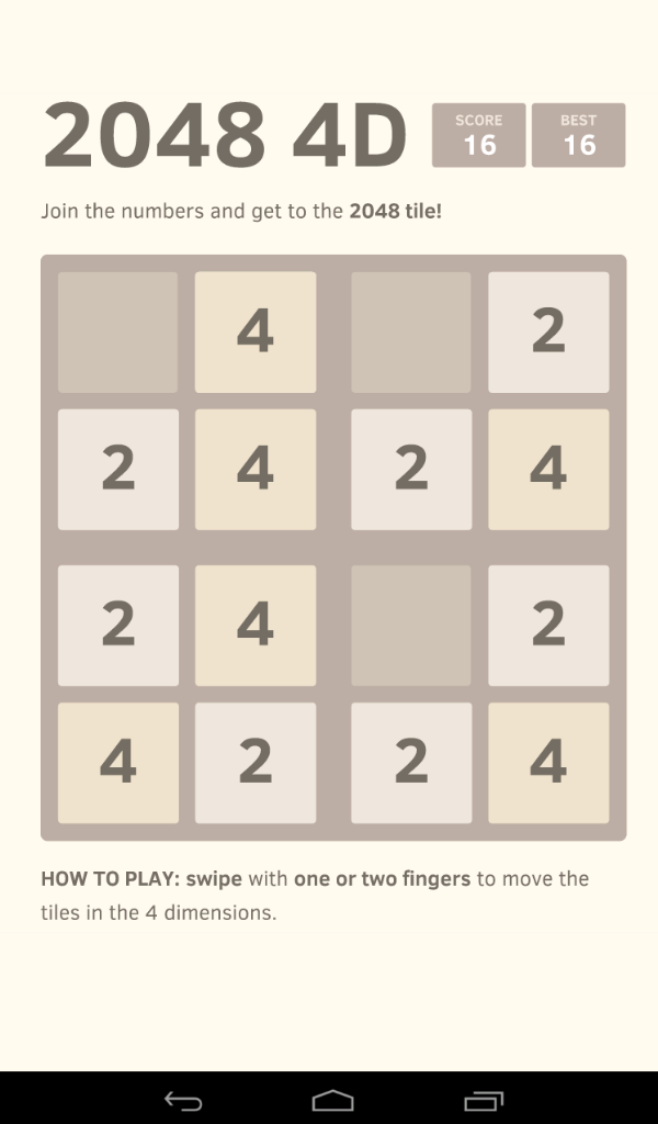 Amazon com: 2048 4D - THE MISSING VERSION: Appstore for Android