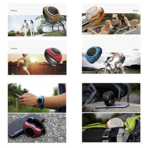SUERSUN Speaker Watch, Wearable Speaker Mini Multifunctional Bluetooth Sports Speaker, TF Card MP3 Music Player, FM Radio, Handsfree, Selfie, Red Photo #6